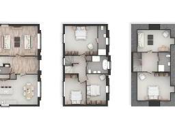 Floorplan 1 of The Oak, House Type Y, Castlehill Wood, Belfast