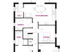 Floorplan 1 of The Oxford, Woodford Villas, Armagh, Woodford Villas, Armagh