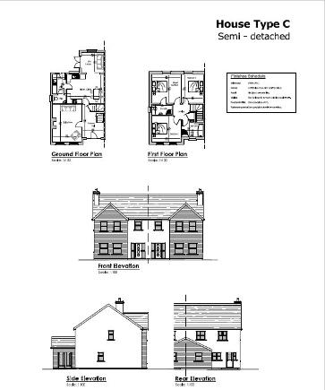 Floorplan 1 of House Type C, Millbrook, Washingbay Road, Coalisland