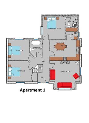 Floorplan 1 of Apartments, Strangford Manor, Strangford Road, Downpatrick