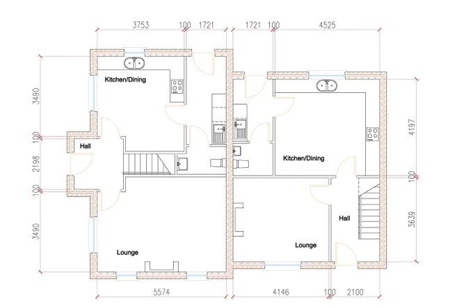 Floorplan 1 of House Type S4, Shanmoy Downs, Eglish, Dungannon