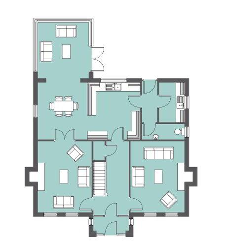Floorplan 1 of The Honeysuckle, Larden Meadows, Donaghmore, Dungannon
