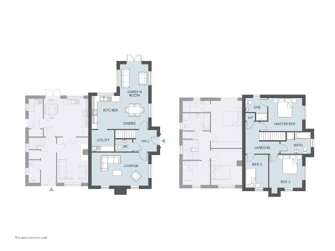 Floorplan 1 of The Chicory (Rh), Larden Meadows, Donaghmore, Dungannon