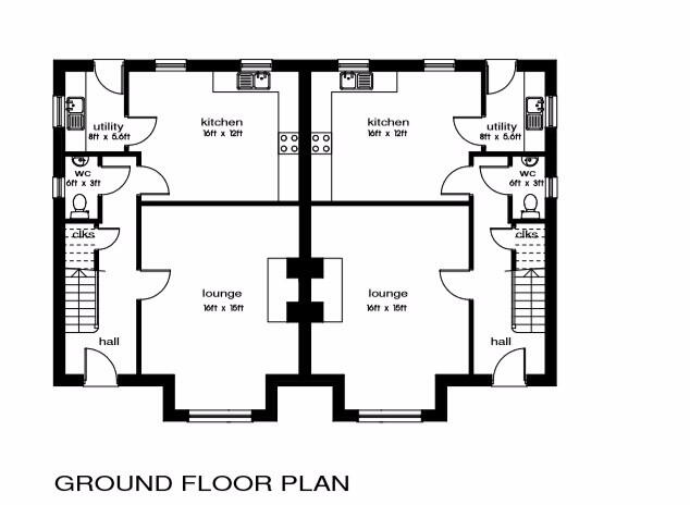 Floorplan 1 of 3 Bed Semi-Detached House, Millstone Drive, Scallen Road, Irvinestown
