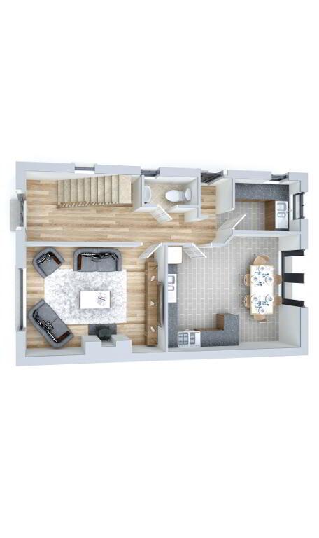Floorplan 2 of Type 1, Loughmuck Meadows, Fintona