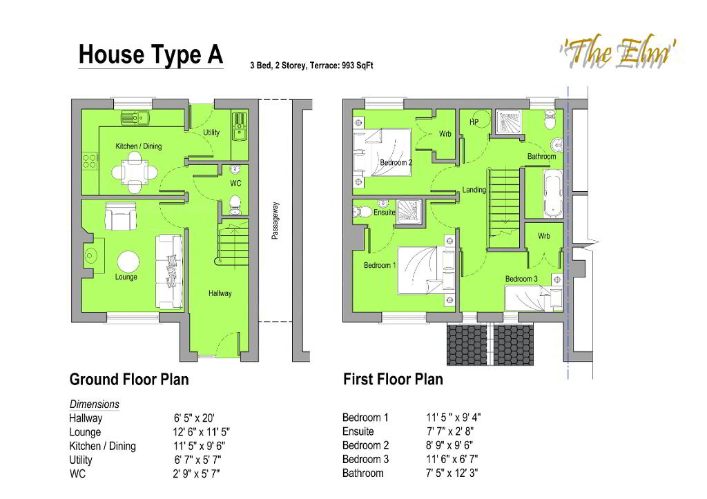 Floorplan 1 of The Elm, Gortnessy Meadows, Derry/ Londonderry