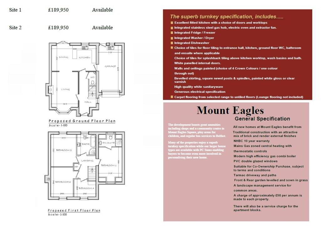 Floorplan 1 of Site 1, The Close At Mount Eagles, Mount Eagles, Stewartstown Road, Belfast
