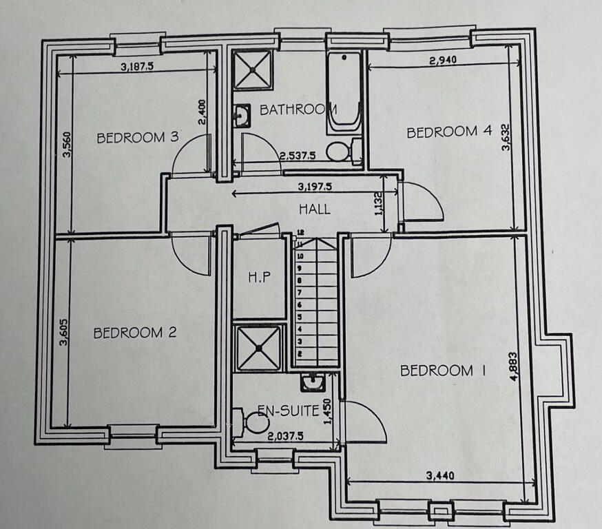 Floorplan 3 of House Type 2, Shanmoy Downs, Eglish, Dungannon