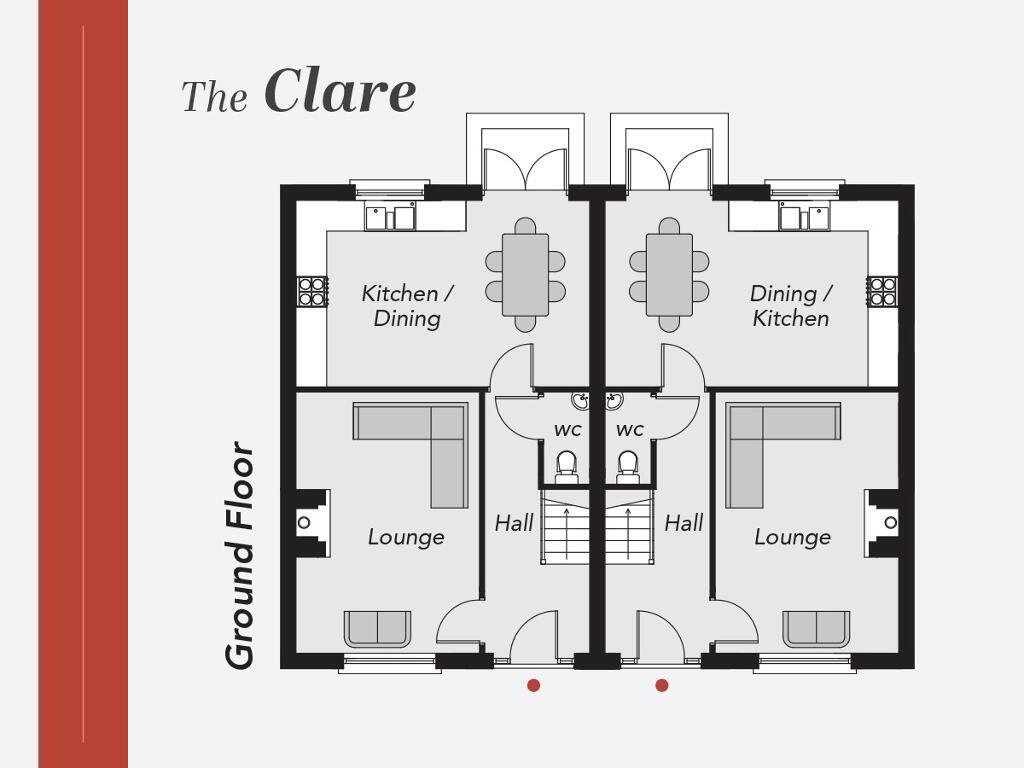 Floorplan 1 of The Clare, Limestone Meadows, Clarehill Road, Moira