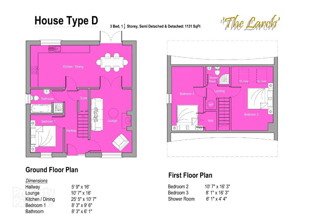 Floorplan 1 of The Larch - Detached, Gortnessy Meadows, Derry/ Londonderry