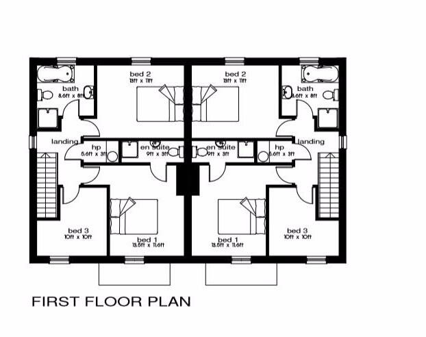 Floorplan 2 of 3 Bed Semi-Detached House, Millstone Drive, Scallen Road, Irvinestown