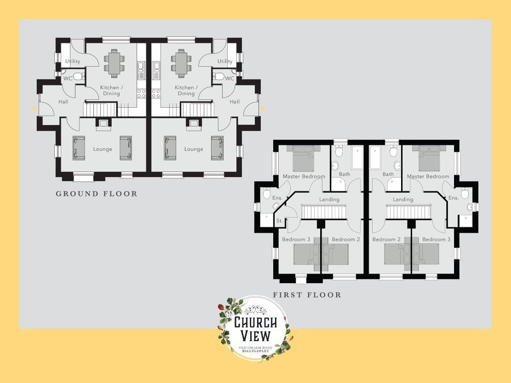 Floorplan 1 of The Meenard, Church View, Ballygawley, Omagh