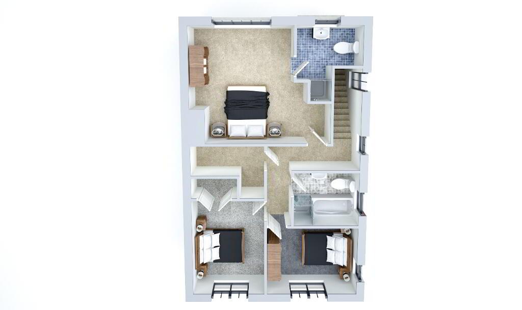 Floorplan 1 of Type 1, Loughmuck Meadows, Fintona