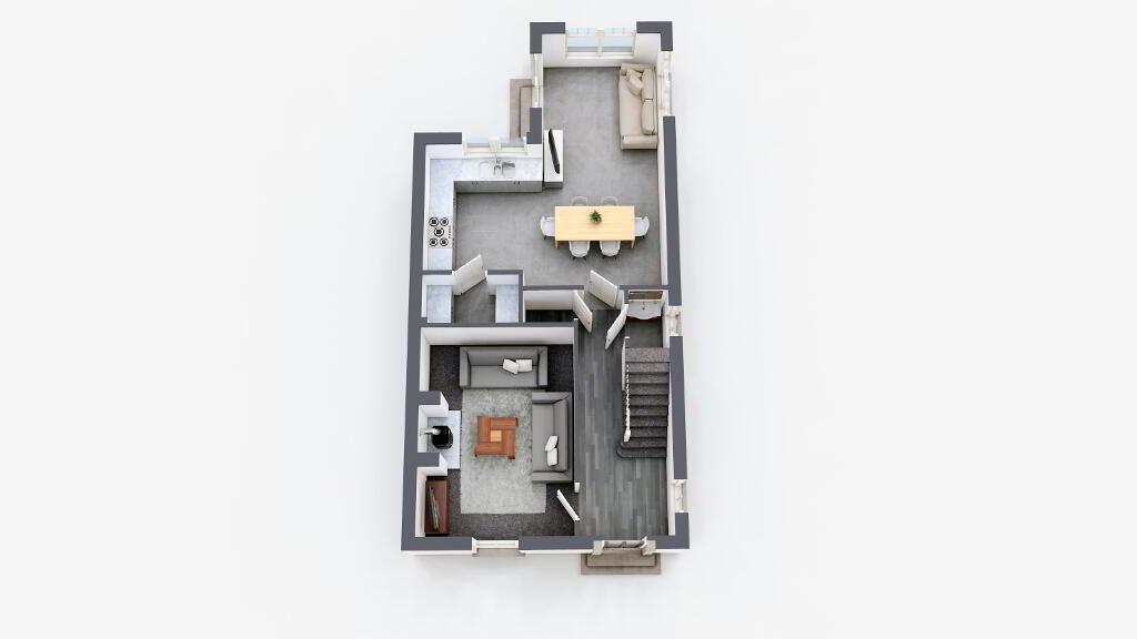 Floorplan 1 of Semi 6A - Rhs, Mount Bernard Rise, Strabane Road, Castlederg