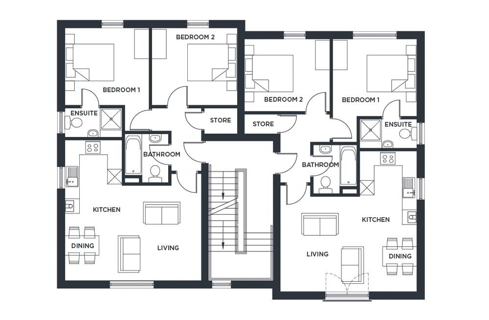 Floorplan 1 of Apt 1St Floor, Cotton Hall, Bangor