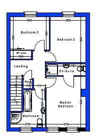 Floorplan 2 of House Type 22D, Cloneen Crescent, Cloneen Crescent, Maghera