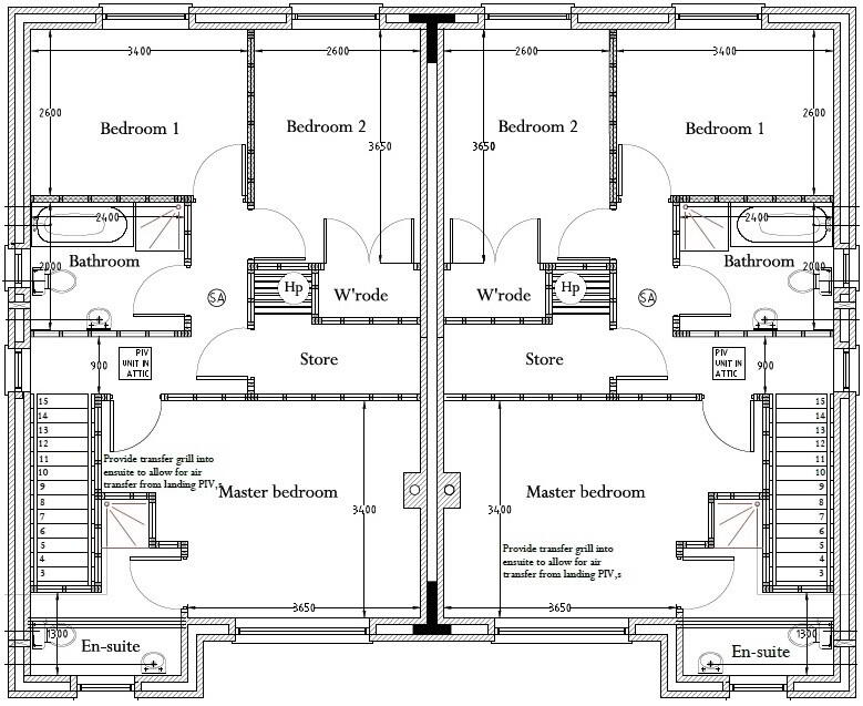 Floorplan 4 of Type 1, Loughmuck Meadows, Fintona, Omagh