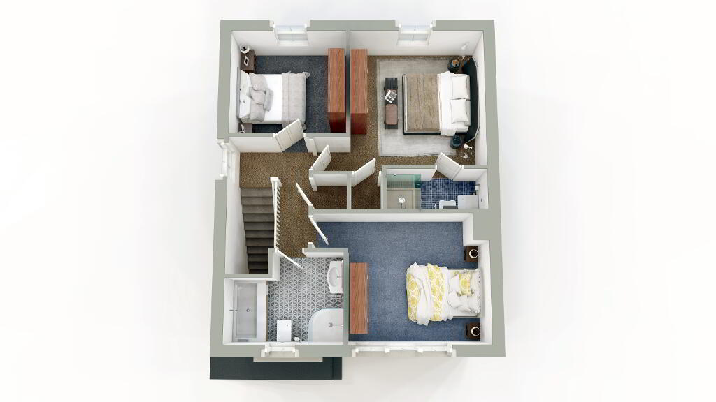 Floorplan 2 of Semi Detached, Gray Hill Meadows, Main Street, Clabby