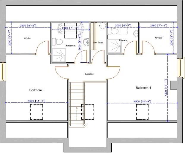 Floorplan 2 of Four Bed Chalet Bungalow, Creggan, Carrickmore, Omagh