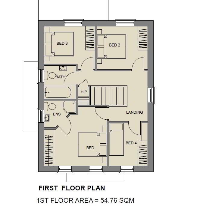 Floorplan 2 of The Sapphire, Stoney Manor, Woodside Road, L'Derry