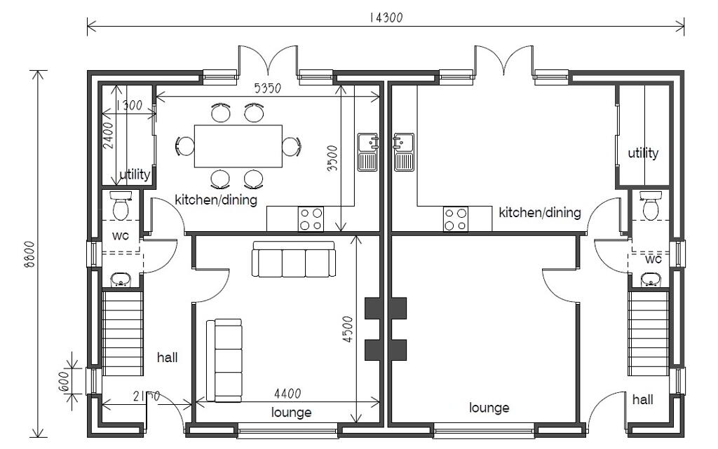 Floorplan 4 of Semi Detached, Gray Hill Meadows, Main Street, Clabby