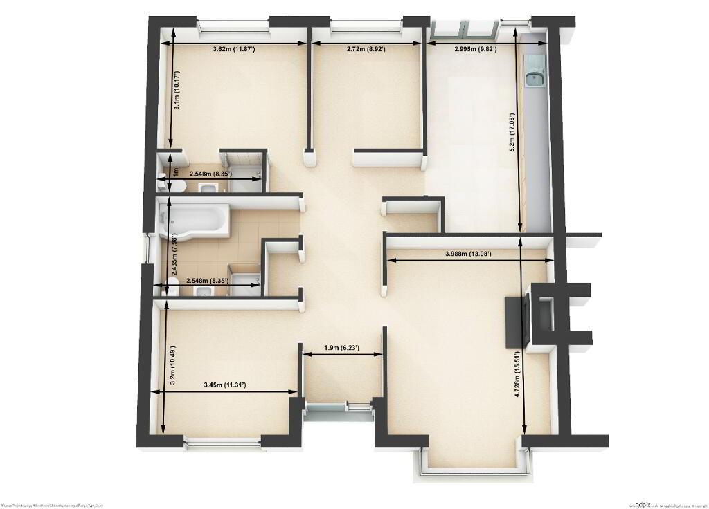 Floorplan 1 of The Millar, Hillcroft, Hunters Hill Road, Gilford
