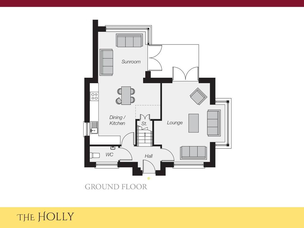 Floorplan 1 of The Holly, Ro Rua, Moneynick Road, Toomebridge