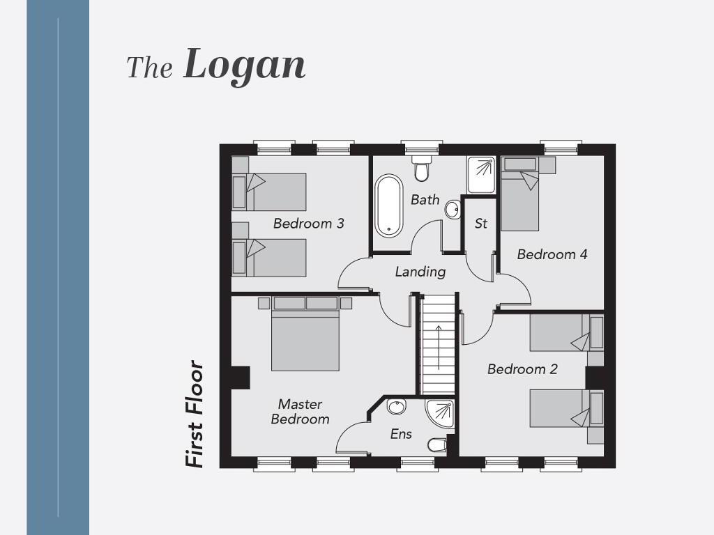 Floorplan 2 of The Logan, Limestone Meadows, Clarehill Road, Moira