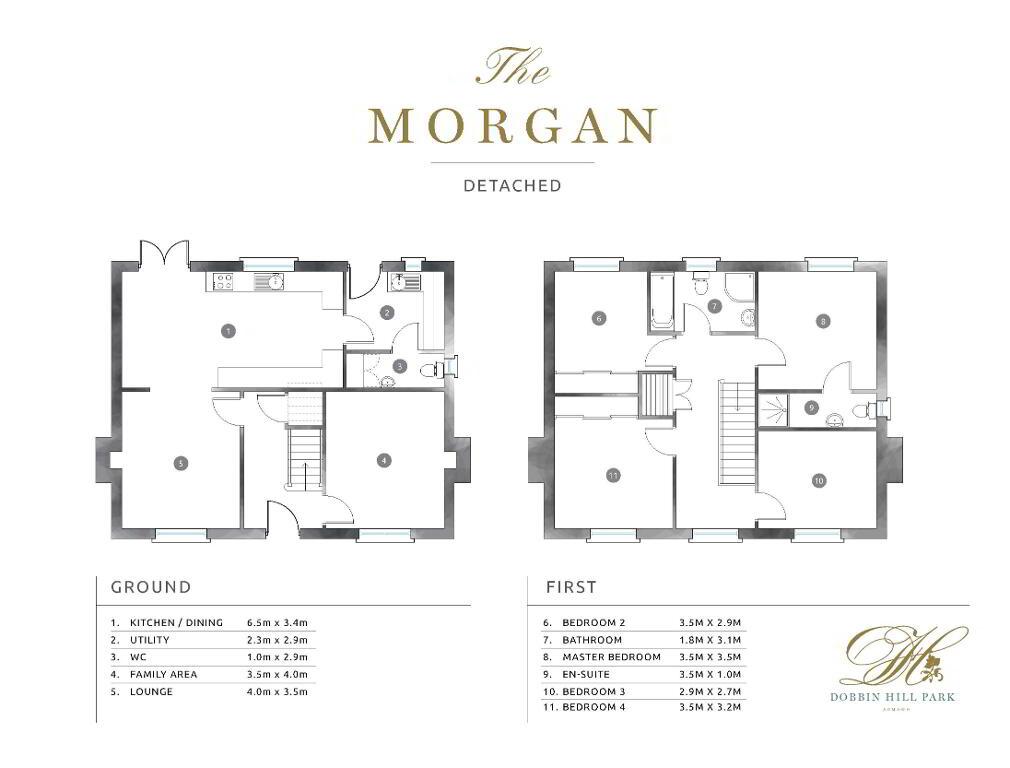 Floorplan 1 of The Morgan, Dobbin Hill Park, Dobbin Hill, Armagh