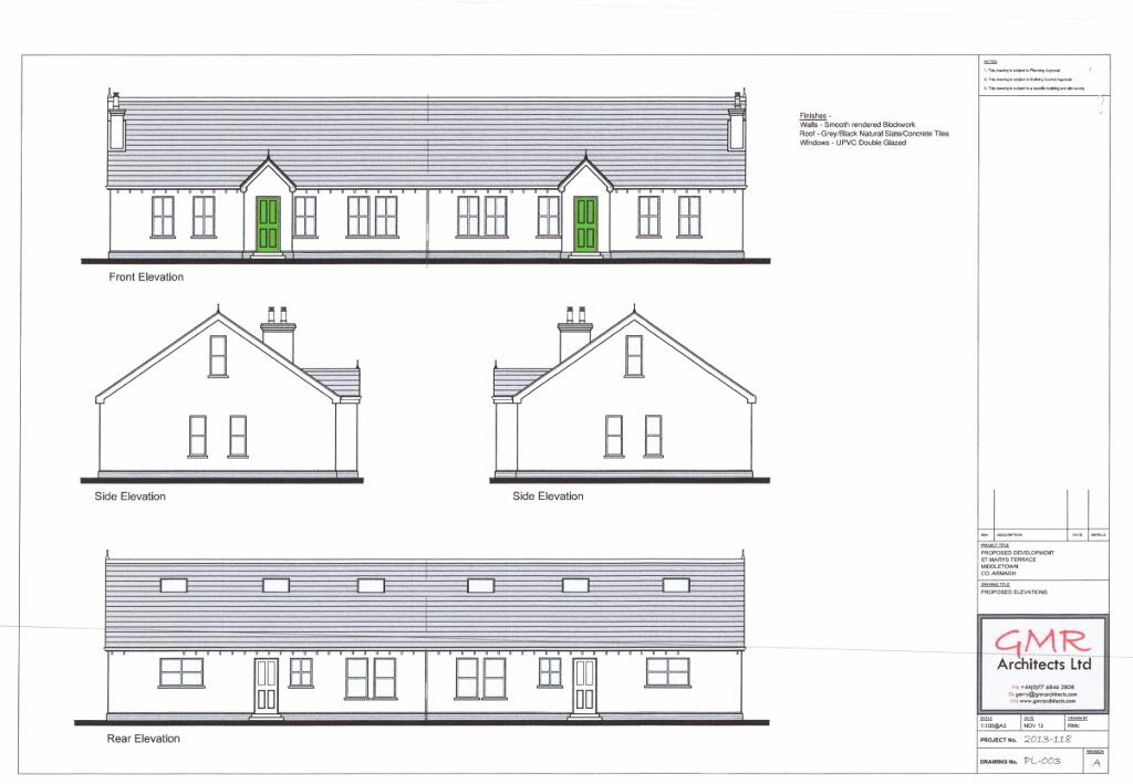Floorplan 2 of Four Bedroom Semi-Detached Dwelling, St. Marys Terrace, St....Middletown, Armagh