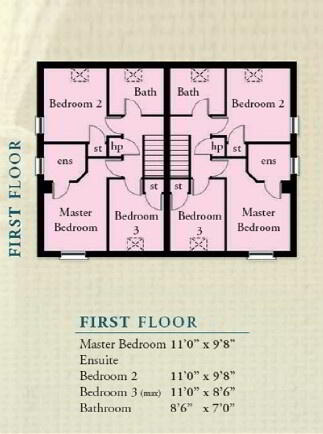 Floorplan 2 of The Turley, Olivers Close, Ballygalget, Portaferry