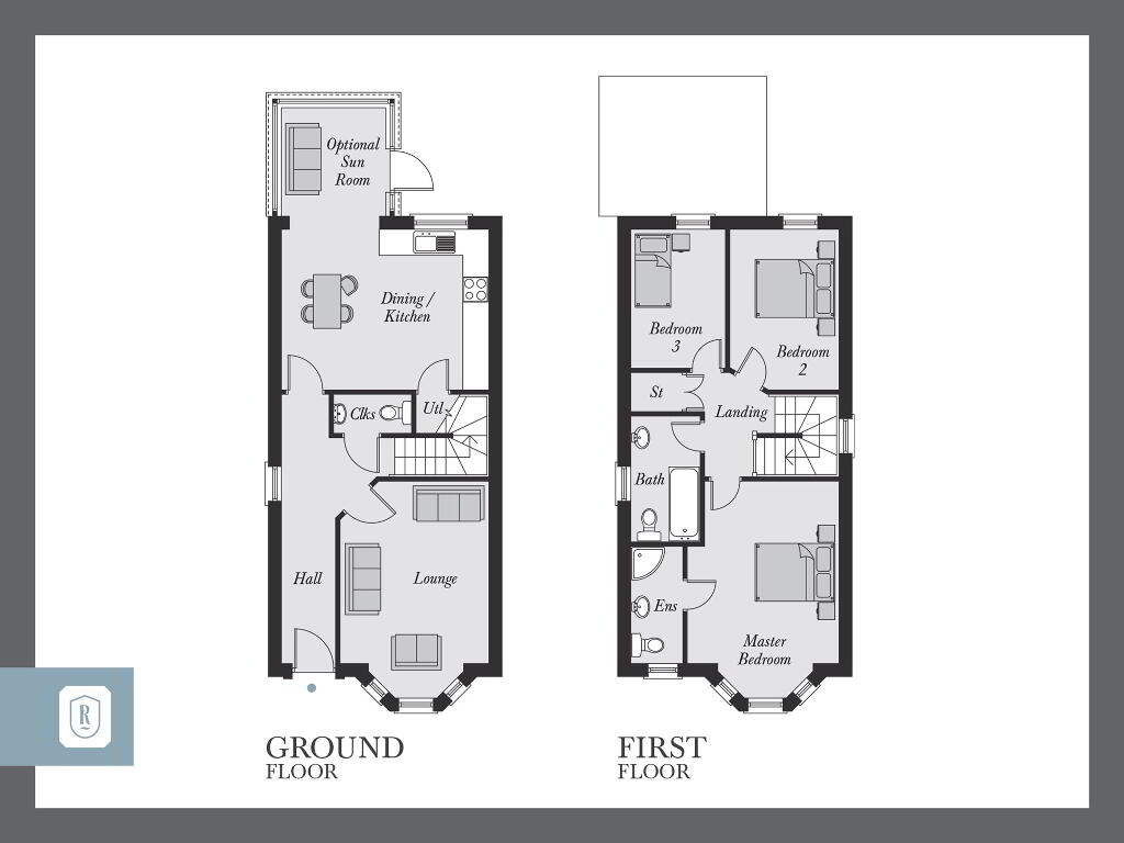 Floorplan 1 of The Epworth, Rowanvale, Green Road, Conlig, Bangor