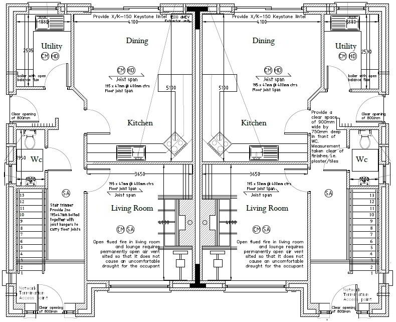 Floorplan 3 of Type 1, Loughmuck Meadows, Fintona, Omagh