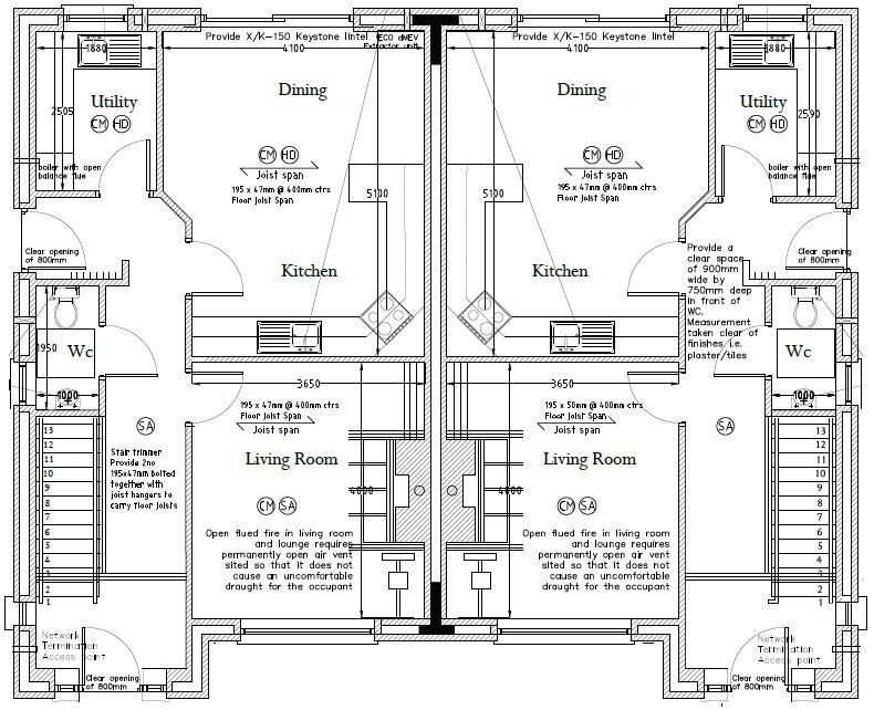 Floorplan 3 of Type 1, Loughmuck Meadows, Fintona