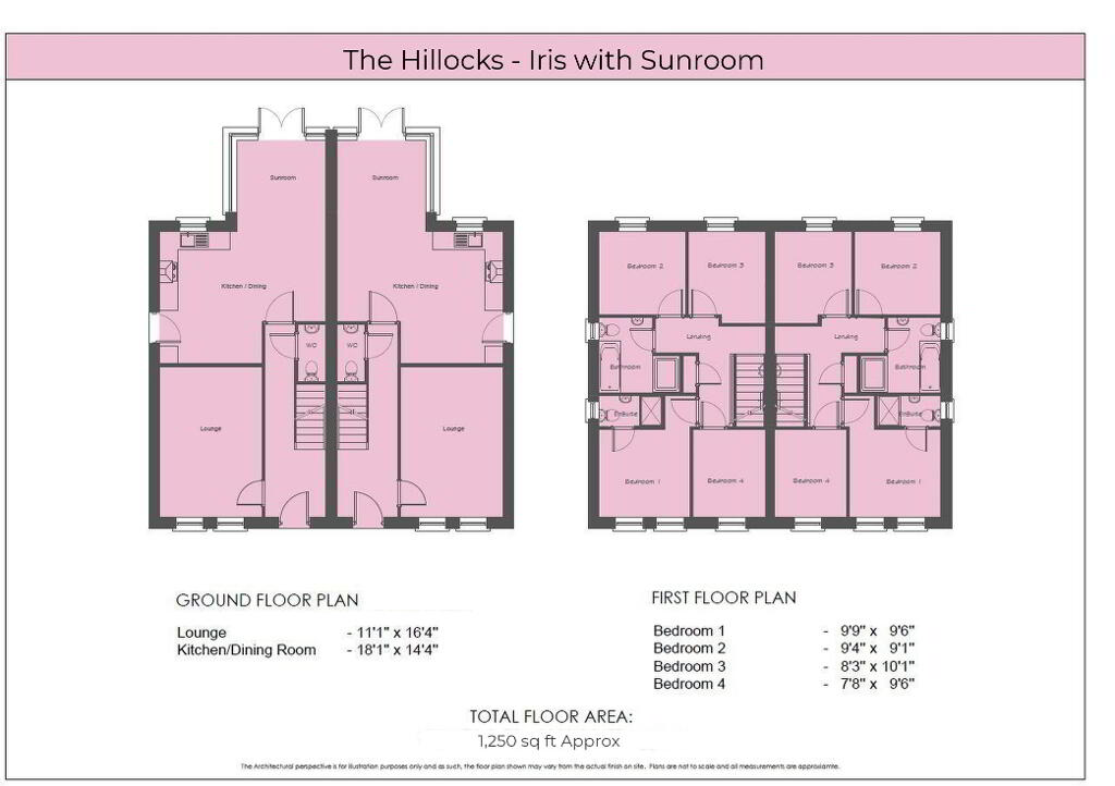 Floorplan 1 of The Iris - With Sunroom, The Hillocks, Altnagelvin, Derry