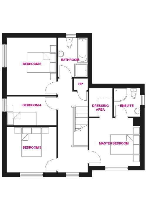 Floorplan 2 of The Georgia, Woodford Villas, Armagh, Woodford Villas, Armagh