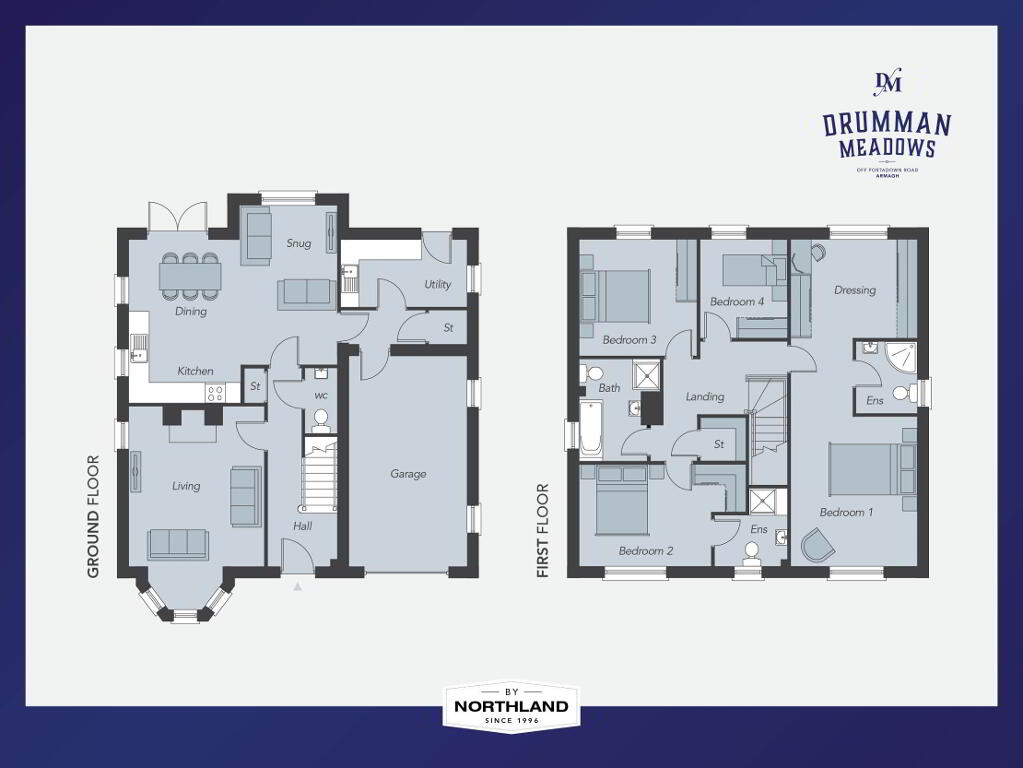 Floorplan 1 of The Station House, Drumman Meadows, Portadown Road, Armagh