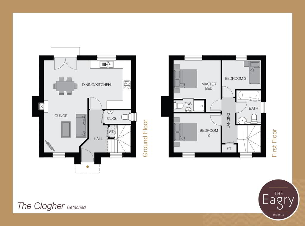 Floorplan 1 of The Clogher, The Eagry, ** Nhbc Award Winning Site **, Bushmills