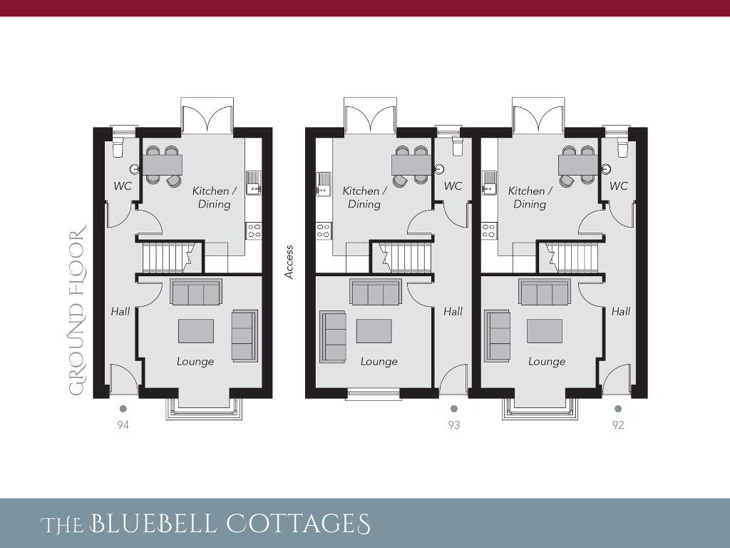 Floorplan 1 of The Bluebell Cottages, Ro Rua, Moneynick Road, Toomebridge