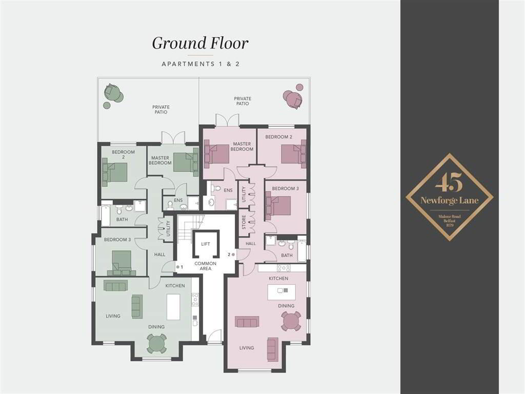 Floorplan 1 of Apartment 1, 45 Newforge Lane, Malone, Belfast