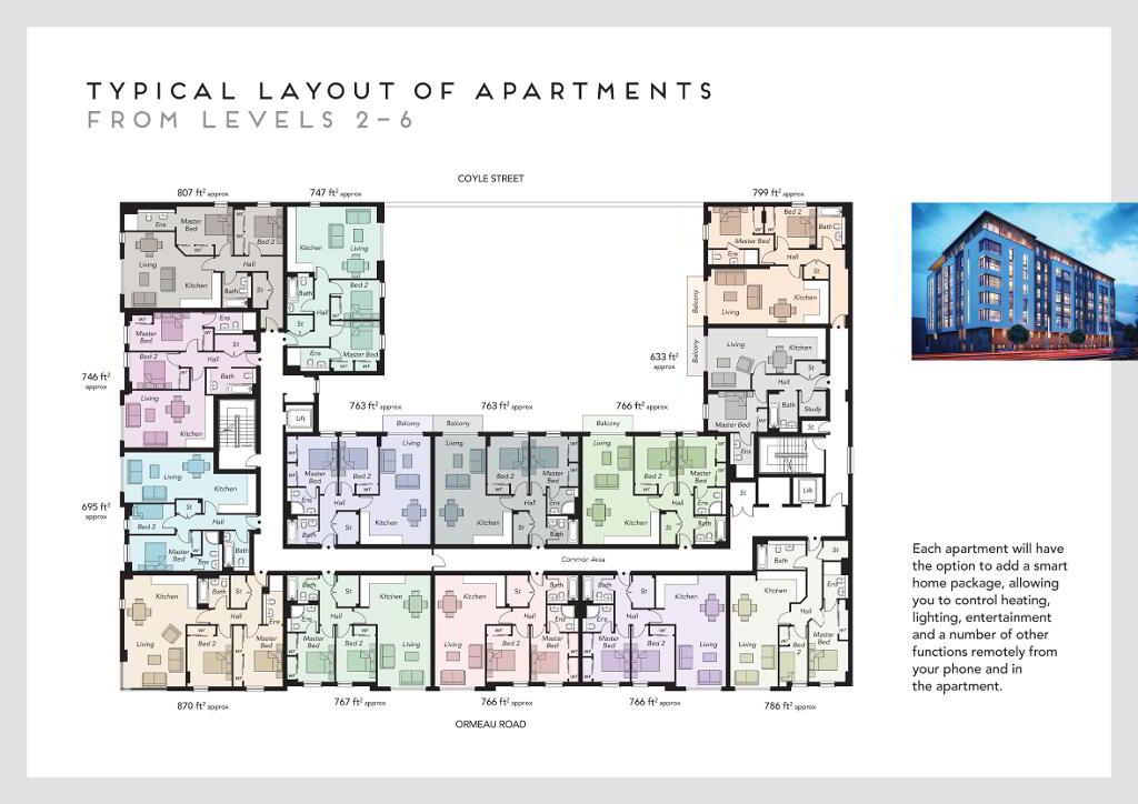 Floorplan 1 of 407, Portland 88, Belfast City Centre, Belfast