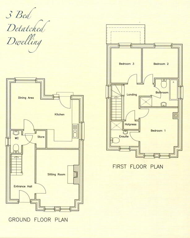 Floorplan 1 of Detached Property - House Type D, Phase 3 Richmond Manor, O...Ballygawley, Omagh