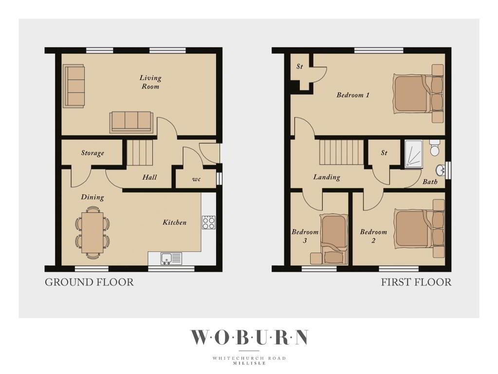 Floorplan 1 of The Coral, Woburn, Whitechurch Road, Millisle