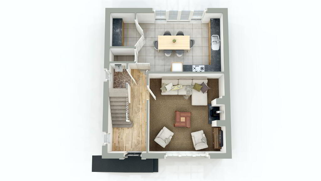 Floorplan 1 of Semi Detached, Gray Hill Meadows, Main Street, Clabby