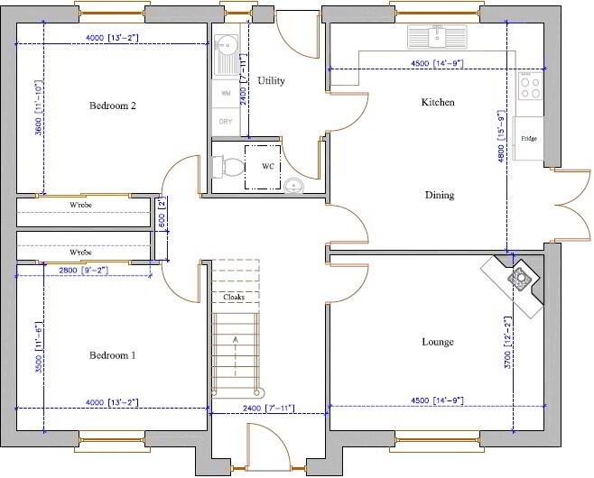 Floorplan 1 of Four Bed Chalet Bungalow, Creggan, Carrickmore, Omagh