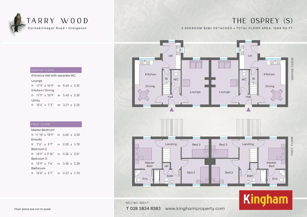 Floorplan 1 of The Osprey (S), Tarry Wood, Lurgan