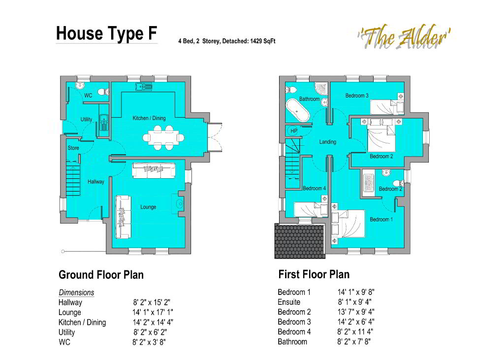 Floorplan 1 of The Alder, Gortnessy Meadows, Derry/ Londonderry