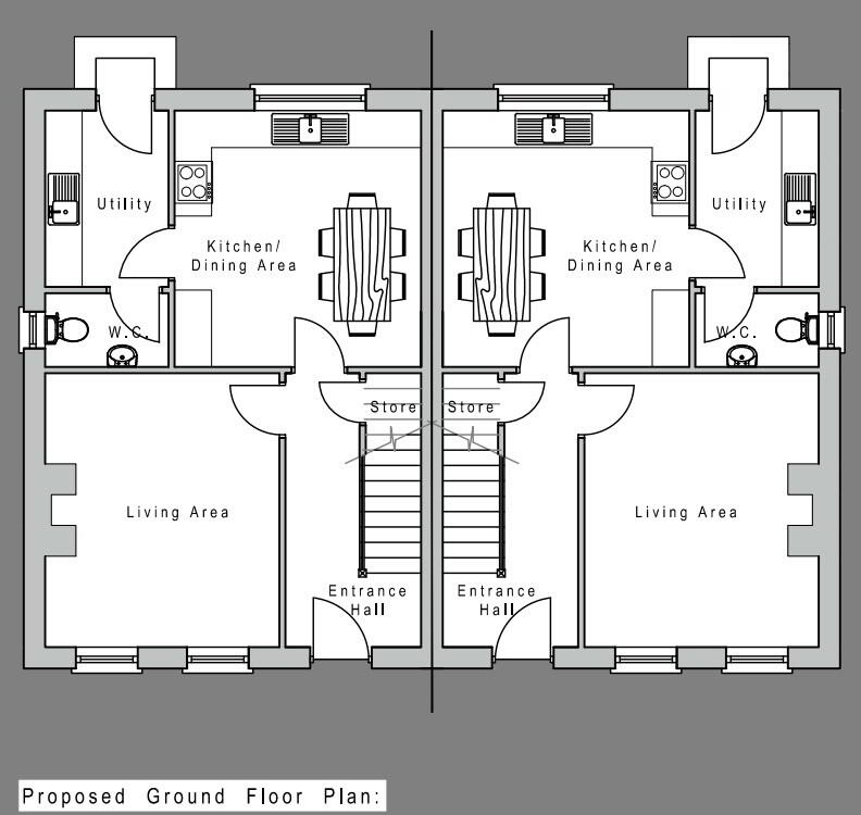 Floorplan 1 of House Type A, Camowen Woods, Omagh