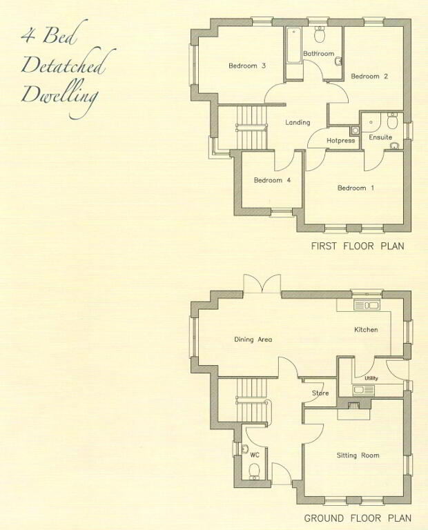 Floorplan 1 of Detached Property - House Type A, Phase 3 Richmond Manor, O...Ballygawley, Omagh
