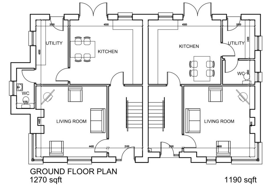 Floorplan 2 of House Type E, Moorwood Drive, Moortown, Cookstown